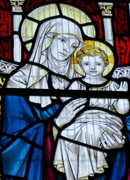 Stained glass of St Edmunds, Dolton, Devon