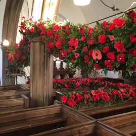 'There, But Not There' floral remembrance tribute at Dowland St. Peters