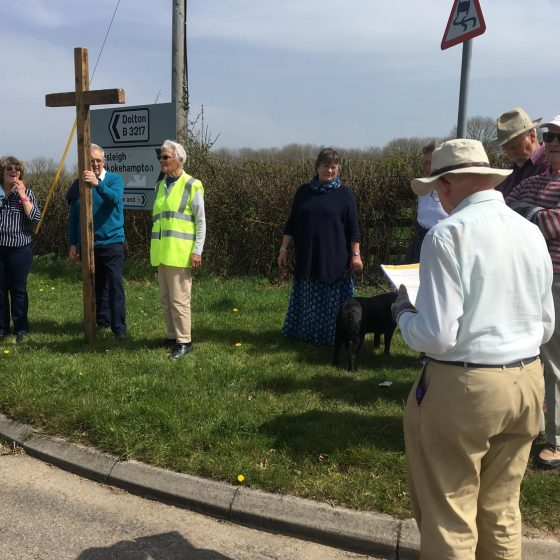 Good Friday walk of witness from Dowland to Dolton